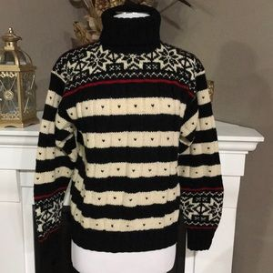 Ralph Lauren Wool Fair Isle  Turtleneck Sweater